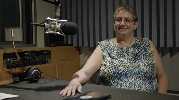 Fantasy author Janni Lee Simner in the AZPM Radio Studio.