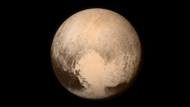 This image of the dwarf planet was captured from New Horizons on July 13, 2015, about 16 hours before the moment of closest approach. The spacecraft was 766,000 kilometers from the surface.