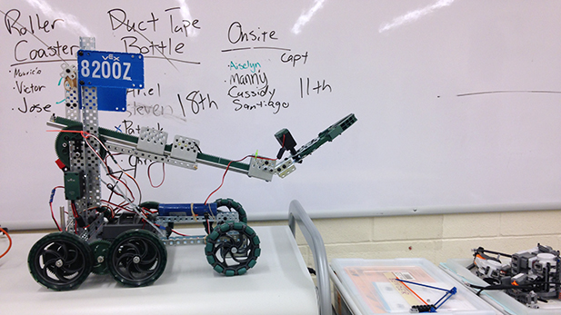 Anne Bonnie is a robot used in Scott Weiler's classes and the robotics club at Amphi Middle School.