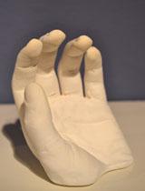 plaster hand sculpture