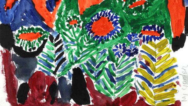 bhutan garden painting spotlight