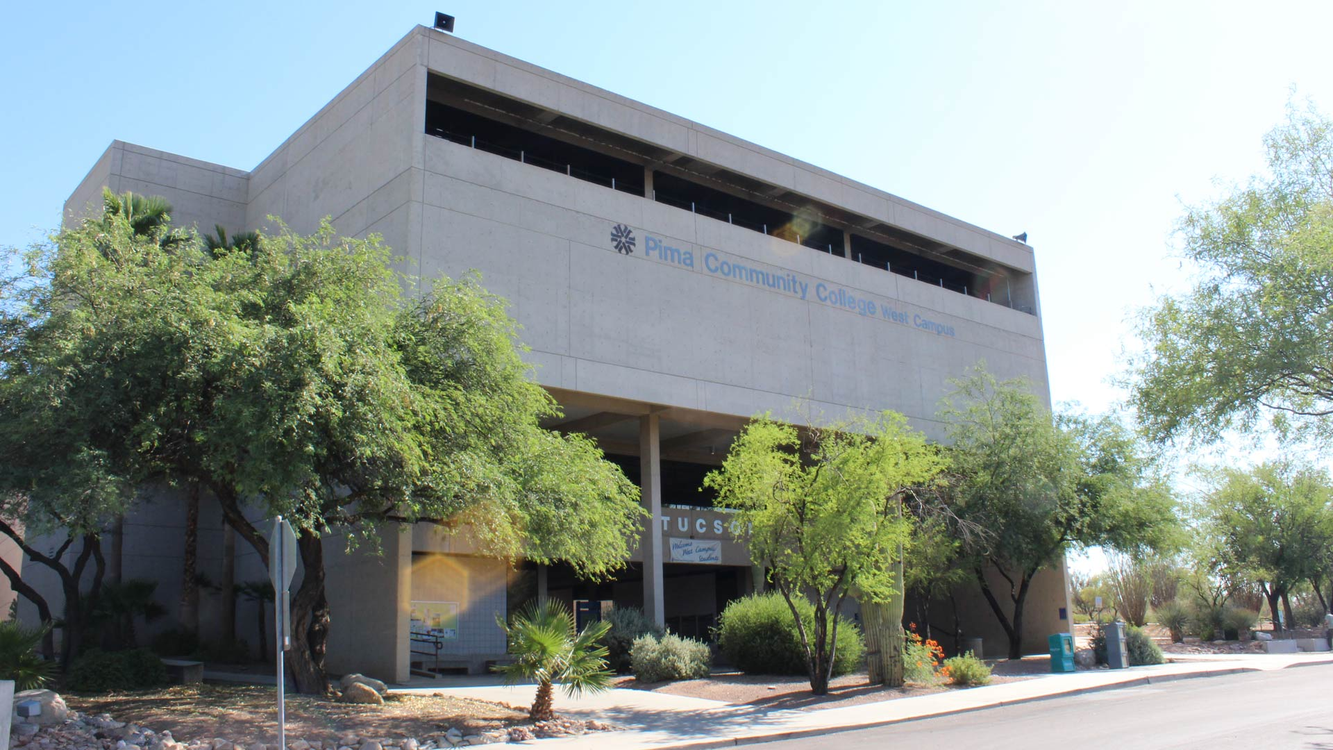 A building on the campus of Pima Community College, West.