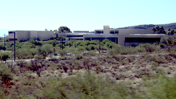 Overlooking the campus of Pima Community College, West.