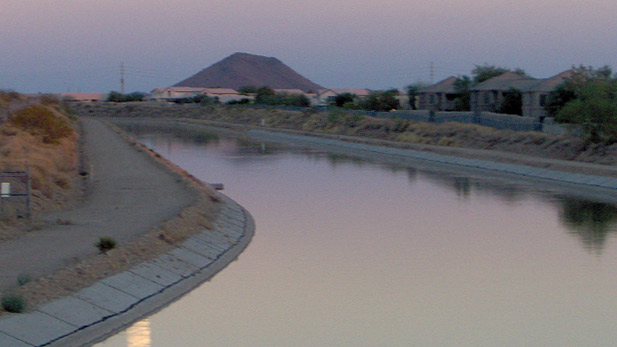A portion of the Central Arizona Project canal, near Scottsdale, AZ.