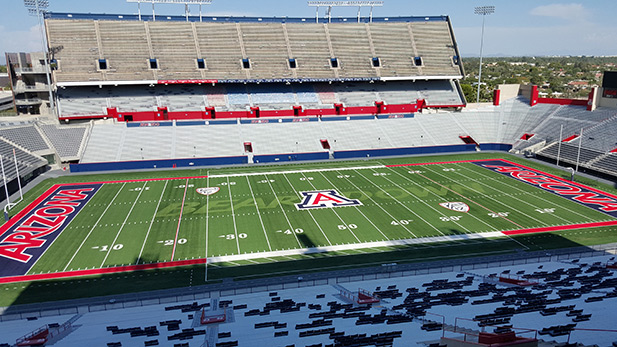 Arizona stadium, home field for the University of Arizona Wildcats football team.