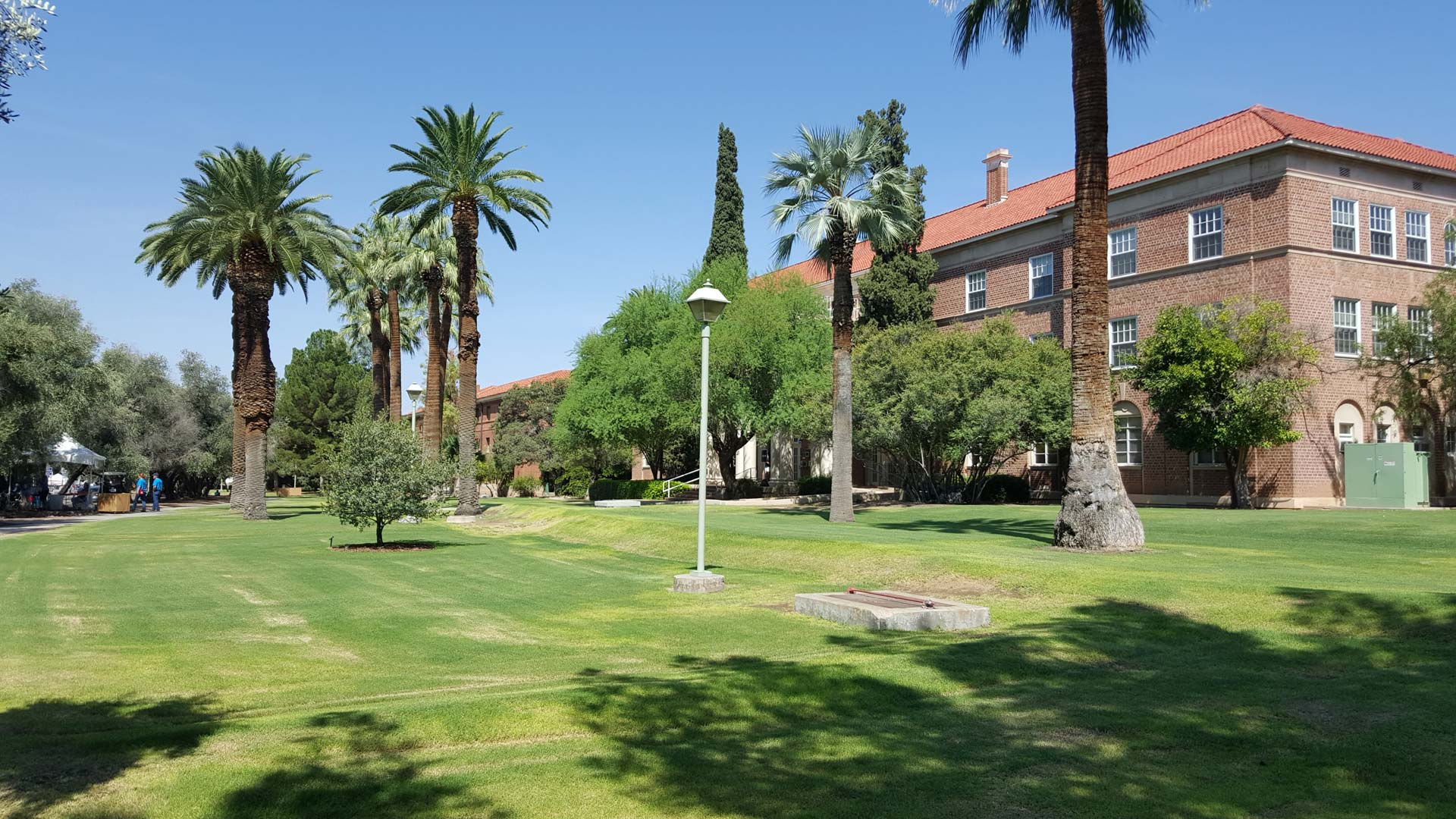 A dormitory on the campus of the University of Arizona.