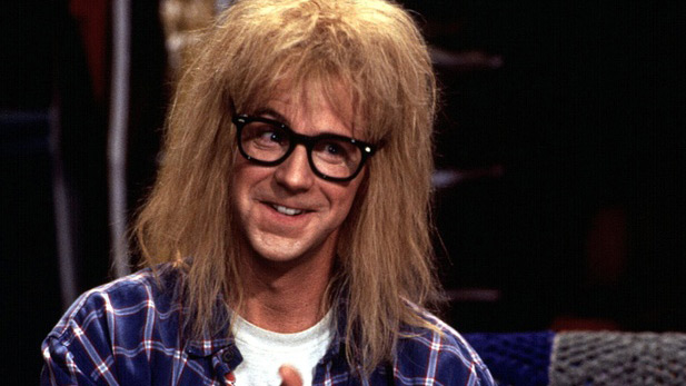 "Dana Carvey as Garth in ""Wayne's World,"" 1992."