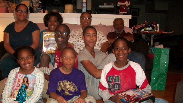 The Gray family at Christmas 2012.
