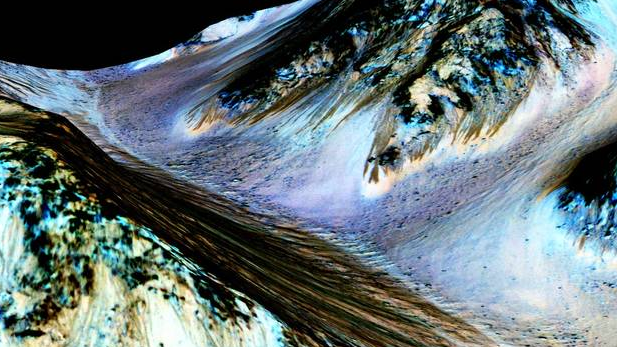 Mars water evidence spotlight