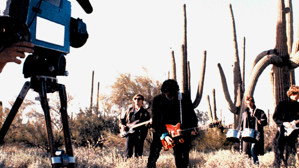 "Ray Frieders (behind the camera) shoots The Giant Sandworms for their ""Body of Water"" video (circa 1983)"