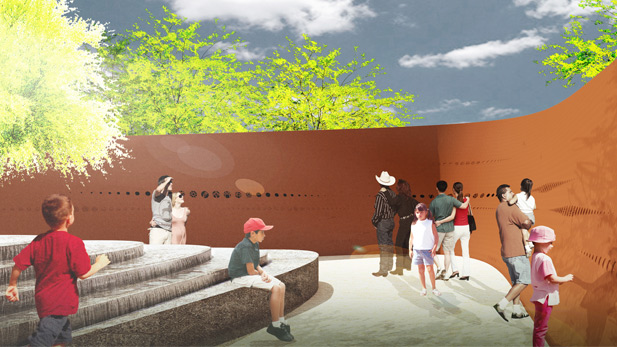 A rendering of the January 8th Memorial.