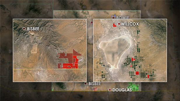 Howard Buffett owns land in two areas. The first is farming operations near Willcox. The second, a ranch along the US/Mexico border east of Naco.