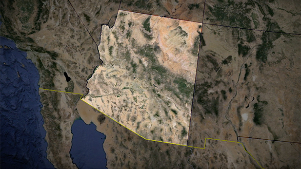Arizona outline border Spot