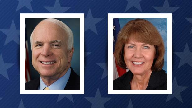 McCain Kirkpatrick Senate spot