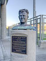 Salmon statue