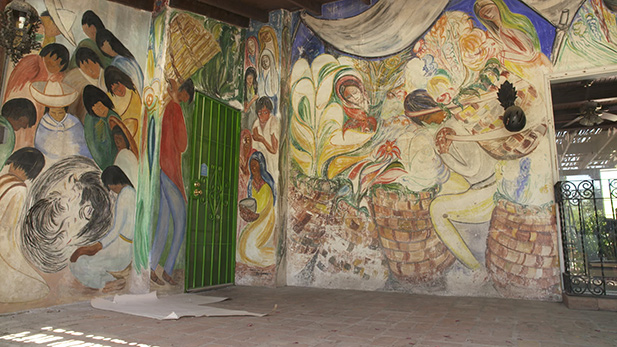 A restored mural by Ted DeGrazia.