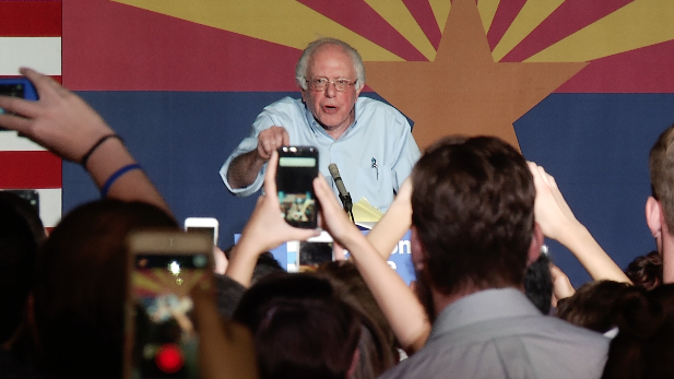 Bernie Sanders on the University of Arizona campus Oct. 18, 2016.