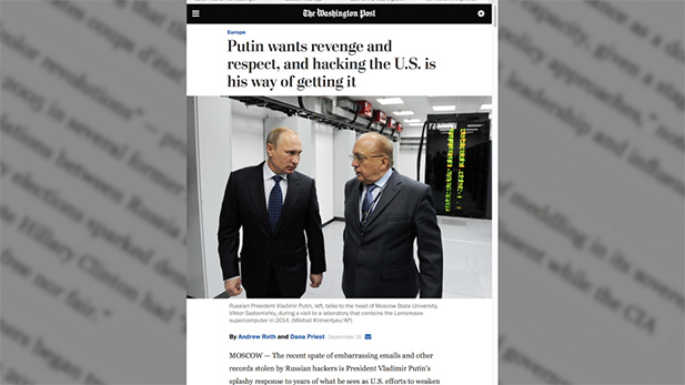 Russia hacking spotlight