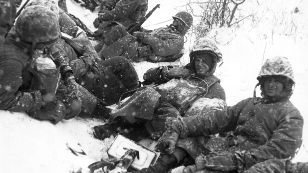An archive photo from the battle of Chosin.