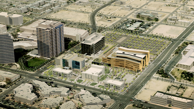The University of Arizona's 28-acre College of Medicine campus in downtown Phoenix.