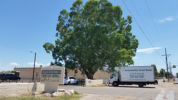 The Community Food Bank of Southern Arizona serves five counties and covers 23,000 square miles.