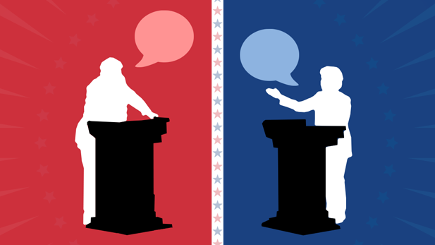 Trump Clinton Debate graphic spot