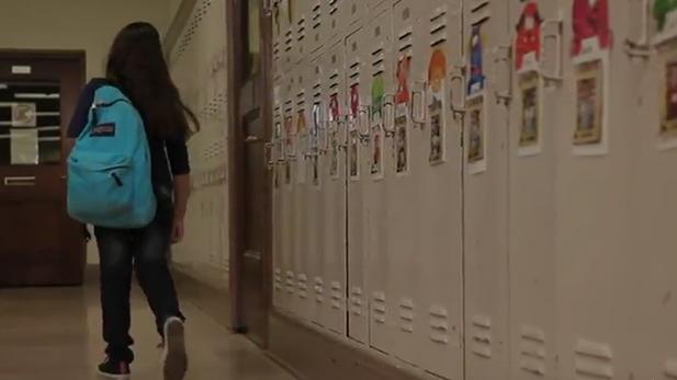 school hallway lockers spot
