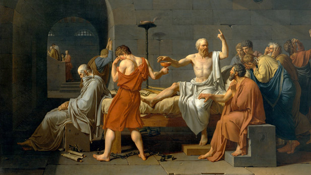 """The Death of Socrates"" by Jacques-Louis David (1787)"