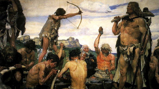 An imaginative depiction of the Stone Age, by Viktor Vasnetsov.