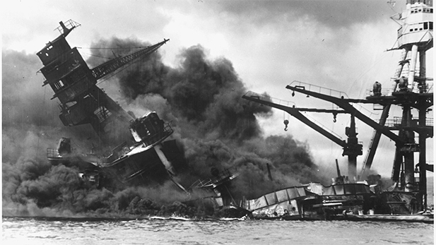 USS Arizona sinking Pearl Harbor spot