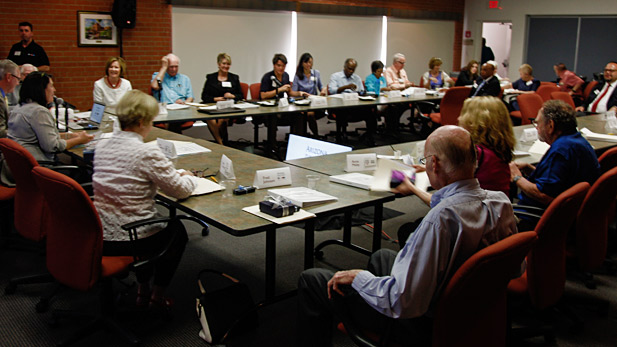 A meeting of the Community Advisory Board.