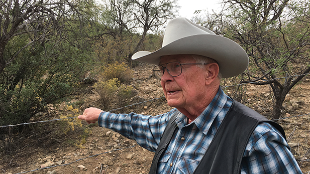 Jim Chilton's family has ranched along the Arizona border with Mexico for five generations.