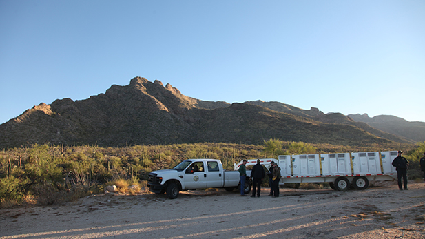 The location for the release of bighorn sheep in the Santa Catalina Mountains in an effort to re-establish a herd there, Nov. 22, 2016.