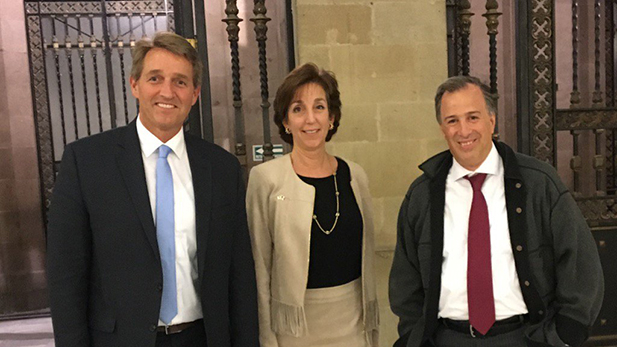 Sen. Jeff Flake, U.S. Ambassador to Mexico Roberta Jacobson and Mexican Secretary of Finance Jose Antonio Meade.