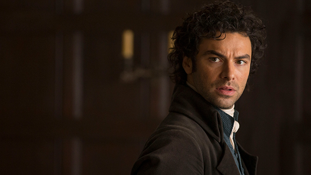Aidan Turner as Ross Poldark.