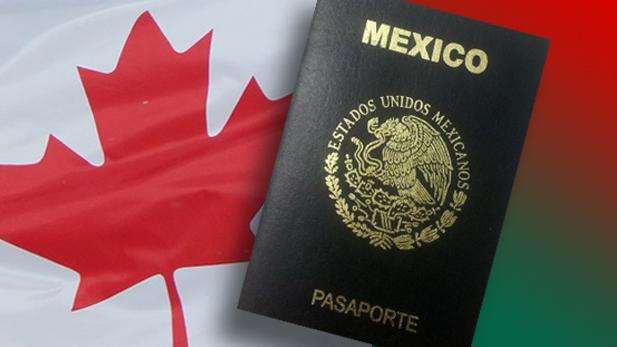 Mexico passport Canada flag