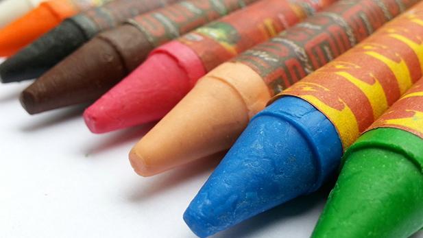 crayons kids children spot