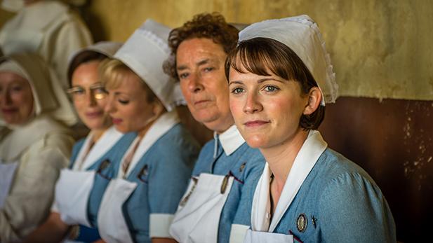 Shelagh (LAURA MAIN), Trixie (HELEN GEORGE), Nurse Crane (LINDA BASSETT) & Barbara (CHARLOTTE RITCHIE)