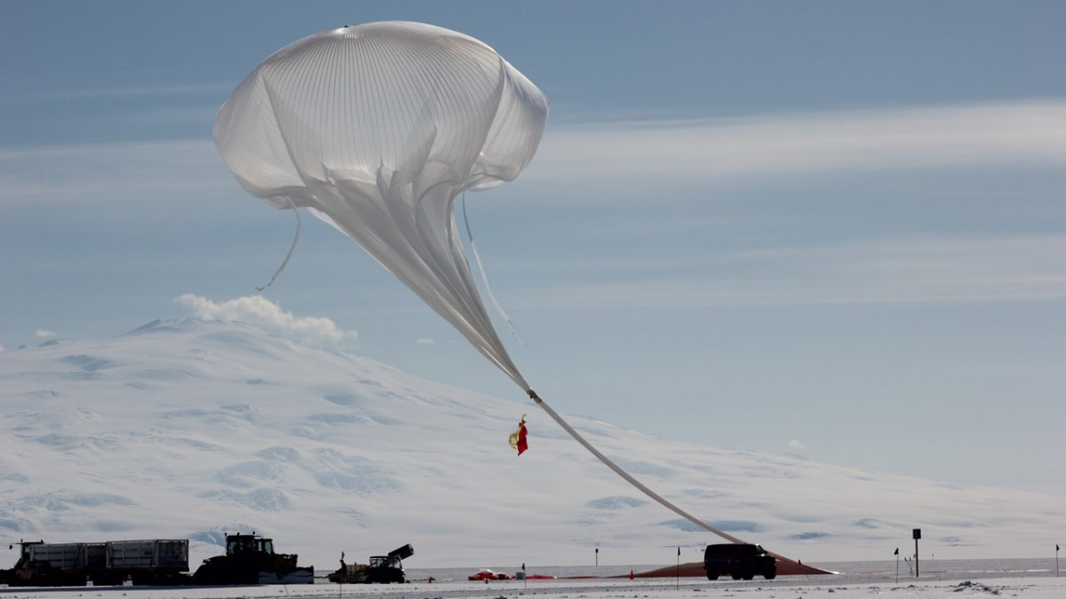 The Stratospheric Terahertz Observatory launches from McMurdo Scientific Station in the Antarctic.