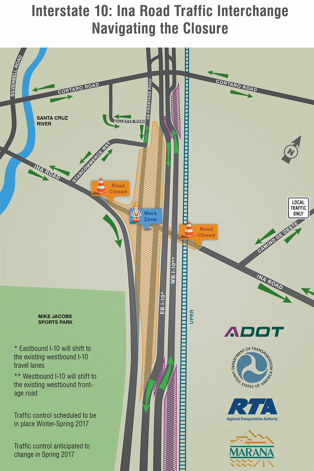 2-Year Construction Closure at Ina Road and I-10 Starts ... on interstate 80 map, highway 82 map, interstate 27 map, interstate 8 map, i-70 colorado road map, texas map, interstate 20 map, lincoln way map, interstate 75 map, interstate 5 map, interstate 81 map, interstate 422 map, interstate 25 map, interstate 4 map, interstate 70 map, i-10 map, interstate 421 map, interstate i-10,
