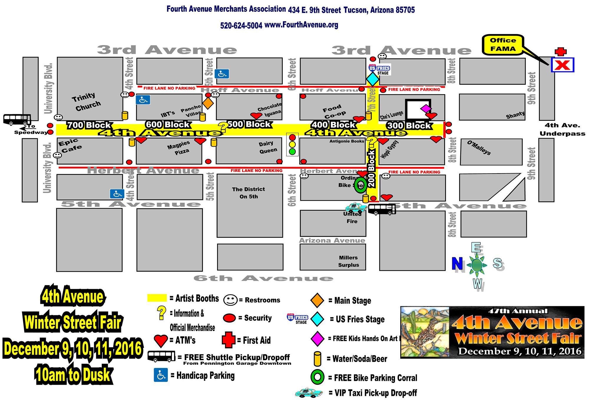 2016 street fair map