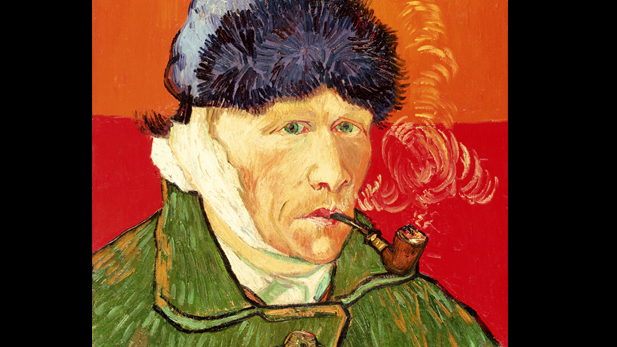 Self-Portrait with Bandaged Ear,1889; Van Gogh.
