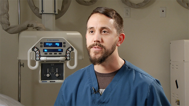 David Lee is a radiologic technologist at Radiology Limited. He trained for his job through the JobPath program and now has a job that offers career advancement and higher wages than he saw before.