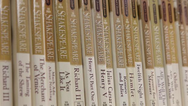 shakespeare bookshelf spot