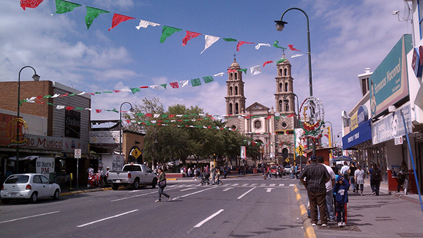 The Catedral de Nuestra Señora de Guadalupe is located in the historic center of downtown Ciudad Juárez.