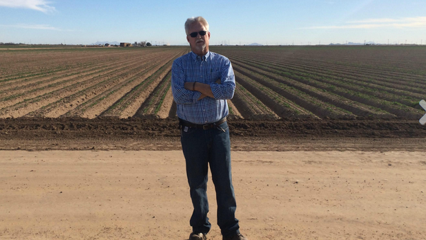 Paco Ollerton, Casa Grande wheat farmer, says he and other Arizona farmers are getting highly efficient with water.