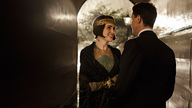 Shown from left to right: Michelle Dockery as Lady Mary and Matthew Goode as Henry Talbot.