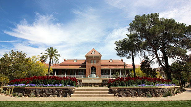 Old Main on the University of Arizona campus.