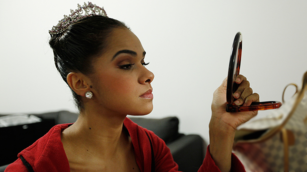 Misty Copeland preparing to perform. December 1, 2013.