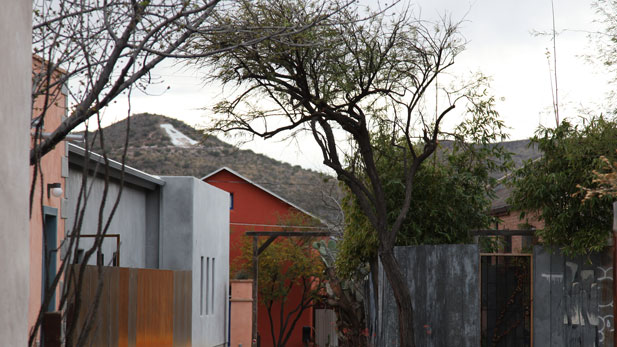 "The ""A"" on Sentinel Peak is visible from many neighborhoods throughout Tucson."